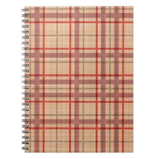 サーモンピンクの赤い格子縞 ノートブック