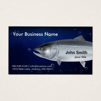 サーモンピンクの魚釣りの名刺 名刺