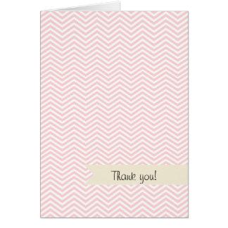 サーモンピンクシェブロン カード