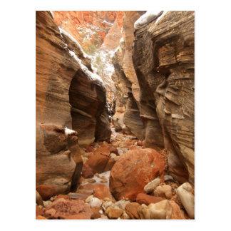 ザイオン国立公園のスロット渓谷 ポストカード