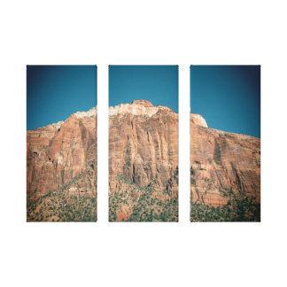ザイオン国立公園のヴィンテージのスタイルの写真 キャンバスプリント