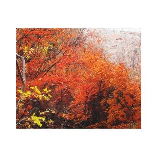ザイオン国立公園の包まれたなキャンバスの紅葉 キャンバスプリント