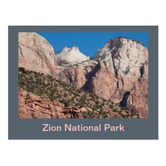 ザイオン国立公園の崖 ポストカード