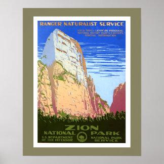 ザイオン国立公園 ポスター