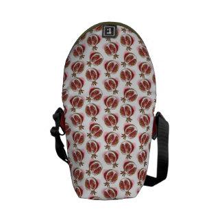 ザクロが付いているパターン メッセンジャーバッグ