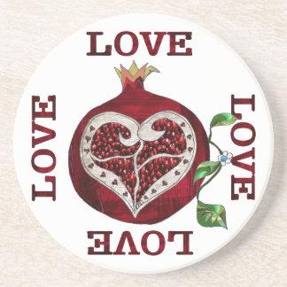 ザクロのハート愛バレンタイン コースター