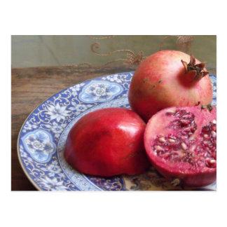 ザクロのフルーツの静物画 ポストカード