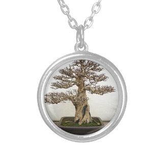 ザクロの盆栽の木 シルバープレートネックレス