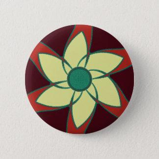 ザクロの花の曼荼羅 5.7CM 丸型バッジ