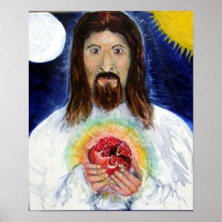 ザクロを持つキリスト ポスター