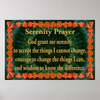 ザクロフレームが付いている平静の祈りの言葉 ポスター