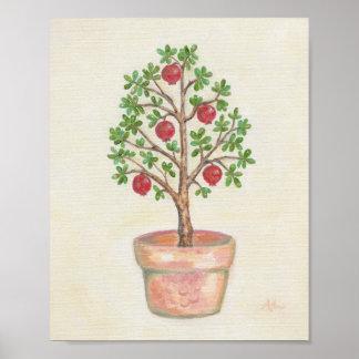 ザクロ木の芸術のプリント ポスター