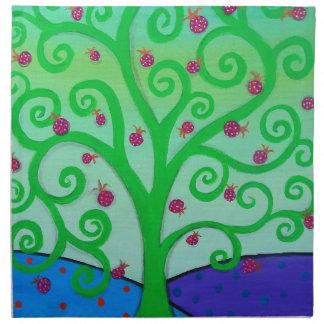 ザクロ生命の樹 ナプキンクロス