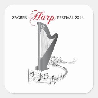 ザグレブのハープのフェスティバル2014年 スクエアシール