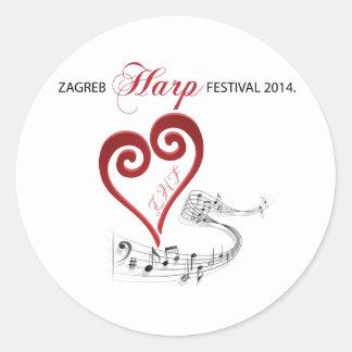 ザグレブのハープのフェスティバル2014年 ラウンドシール