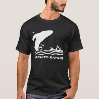 ザトウクジラのカヤックのニュース Tシャツ