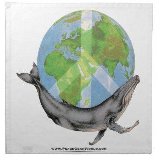ザトウクジラの平和設計 ナプキンクロス