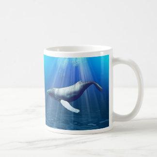 ザトウクジラの水彩画 コーヒーマグカップ
