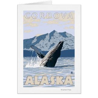 ザトウクジラ- Cordova、アラスカ カード