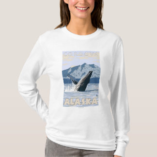 ザトウクジラ- Cordova、アラスカ Tシャツ