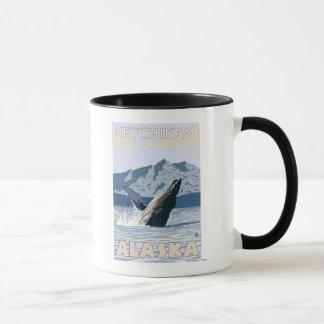 ザトウクジラ- Ketchikan、アラスカ マグカップ