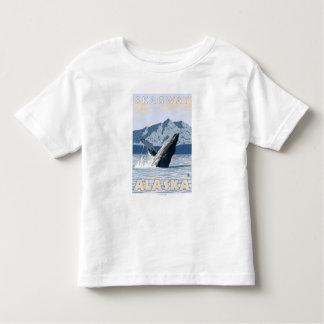 ザトウクジラ- Skagway、アラスカ トドラーTシャツ