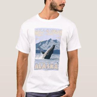 ザトウクジラ- Skagway、アラスカ Tシャツ