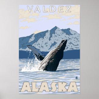 ザトウクジラ- Valdez、アラスカ ポスター