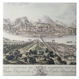 ザルツブルクの首都そして要塞の眺め、 タイル