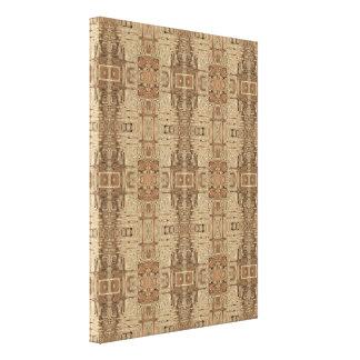 ザンジバルのドア: ショウガのバックラムの覆い キャンバスプリント