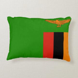 ザンビアの国民の世界の旗 アクセントクッション
