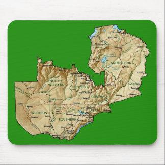 ザンビアの地図のマウスパッド マウスパッド