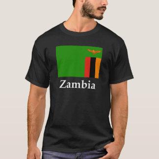 ザンビアの旗および名前 Tシャツ