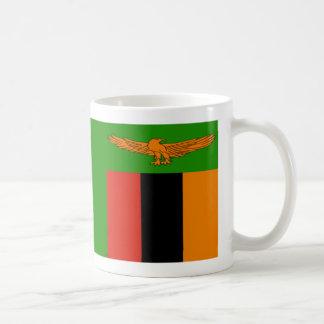 ザンビアの旗のコーヒー・マグ コーヒーマグカップ
