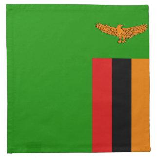 ザンビアの旗のナプキン ナプキンクロス