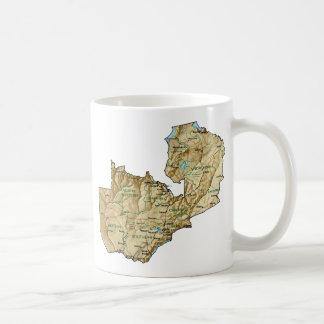 ザンビアの旗の~の地図のマグ コーヒーマグカップ