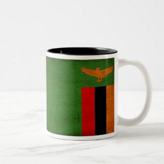 ザンビアの旗 ツートーンマグカップ