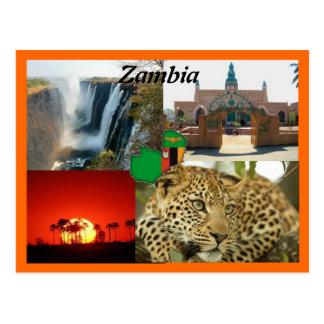 ザンビアの郵便はがき ポストカード