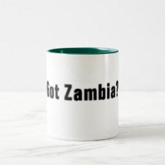ザンビア(得られたザンビア)のTシャツおよび等 ツートーンマグカップ
