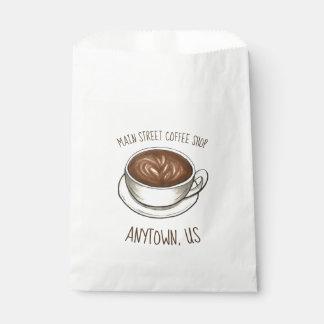 シアトルのコーヒーカップのラテのBaristaの喫茶店の店 フェイバーバッグ