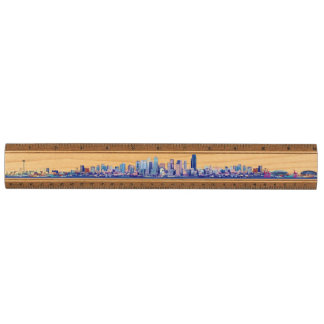 シアトルのスカイライン木定規 メープル 定規