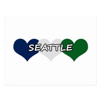シアトルのハート ポストカード