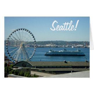 シアトルのフェリーおよび車輪 カード