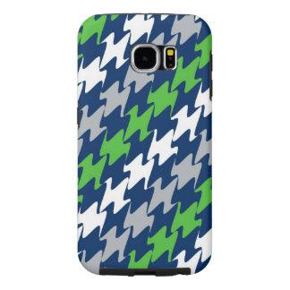 シアトルのフットボールの濃紺の緑の銀のチーム色 SAMSUNG GALAXY S6 ケース