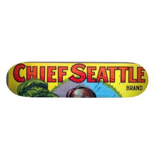 シアトルの主なりんご オリジナルスケートボード