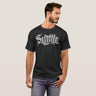 シアトルの入れ墨のレタリングのTシャツ Tシャツ