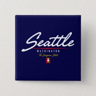 シアトルの原稿 缶バッジ