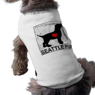 シアトルの子犬の小犬のTシャツ ペット服