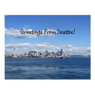 シアトルの挨拶 ポストカード