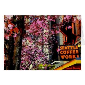 シアトルの朝の挨拶 カード